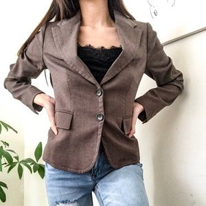 The limited brown classic slimming blazer coat